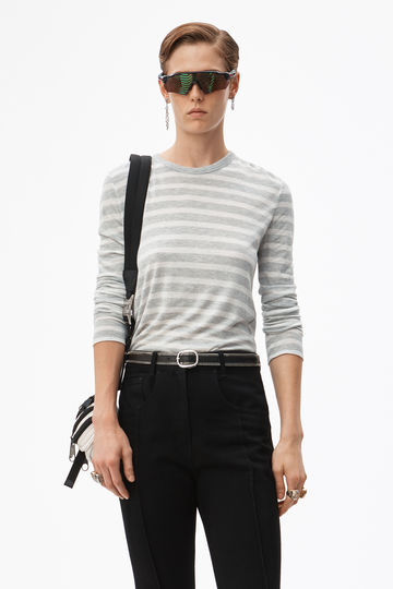 rugby stripe cropped top